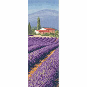 Lavender Field Cross Stitch Chart