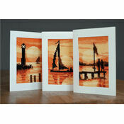 Sunset Cross Stitch Card Kits Set of 3