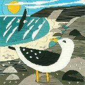Seagulls Silken Long Stitch Kit