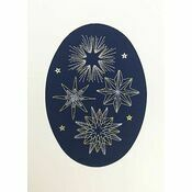 Shining Stars Cross Stitch Christmas Card Kit