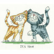 It's Love Cross Stitch Kit