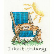 I Don\'t Do Busy Cross Stitch Kit