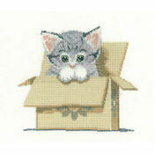 Cat In Box Cross Stitch Kit