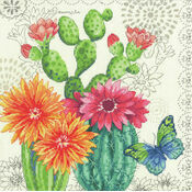 Cactus Blooms Cross Stitch Kit