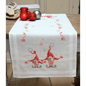 Christmas Gnomes Cross Stitch Table Runner Kit
