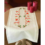 Christmas Stockings Embroidery Table Runner Kit