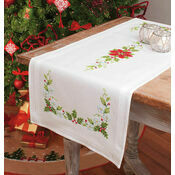 Poinsettia Table Runner Embroidery Kit