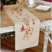 Jumping Reindeer Table Runner Embroidery Kit