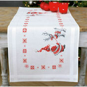 Santa & Rudolph Embroidery Table Runner Kit