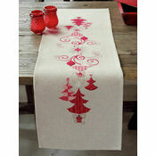 Christmas Decs Embroidery Table Runner Kit