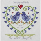 Bluebell Heart Wedding Sampler Cross Stitch Kit