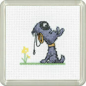 Walkies Cross Stitch Coaster Kit