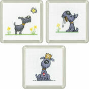 Golden Years Coasters Set Of 3 Cross Stitch Kits