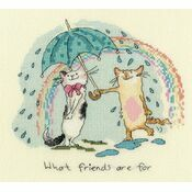 What Friends Are For Cross Stitch Kit