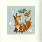 Christmas Friends Cross Stitch Card Kit
