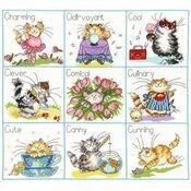 It\'s A Cat\'s Life Cross Stitch Kit