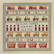 Soldier Soldier Birth Sampler Cross Stitch Kit