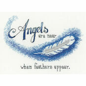 Angels Are Near Cross Stitch Kit