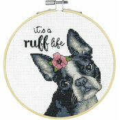 It's A Ruff Life Cross Stitch Hoop Kit