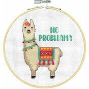 No Probllama Cross Stitch Hoop Kit