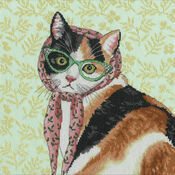 Mama Cat Cross Stitch Kit