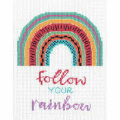 Follow Your Rainbow Cross Stitch Kit