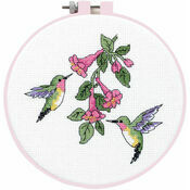 Hummingbird Duo Learn-A-Craft Counted Cross Stitch Kit With Hoop
