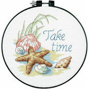 Take Time Learn-A-Craft Counted Cross Stitch Kit With Hoop