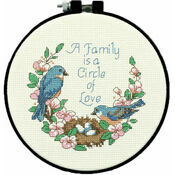 Family Love Learn-A-Craft Counted Cross Stitch Kit With Hoop