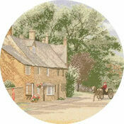 Village Lane Cross Stitch Kit