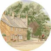 Village Lane Cross Stitch Kit