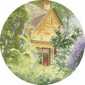 Wisteria Cottage Cross Stitch Kit