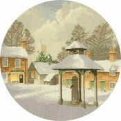 Winter Village Cross Stitch Kit