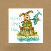 Number One Dad Cross Stitch Card Kit