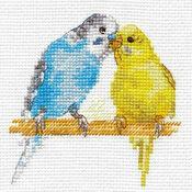 Budgies Cross Stitch Kit
