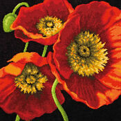 Red Poppy Trio Tapestry Kit