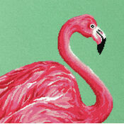 Pink Flamingo Tapestry Kit