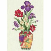 Elegant Floral Embroidery Kit