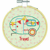 Camper Embroidery Hoop Kit