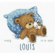 Sweet Bear Birth Sampler Cross Stitch Kit