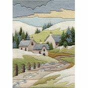 Winter Cottage Long Stitch Kit