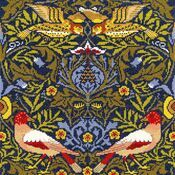 William Morris Bird Cross Stitch Kit