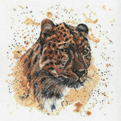 Layla The Leopard Cross Stitch Kit by Bree Merryn