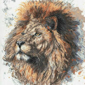 Lex The Lion Cross Stitch Kit by Bree Merryn