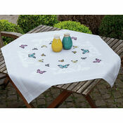 Butterfly Dance Cross Stitch Tablecloth Kit