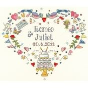 Made For Each Other Wedding Sampler Cross Stitch Kit