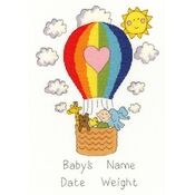 Balloon Baby Birth Sampler Cross Stitch Kit