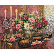 Romantic Floral Cross Stitch Kit