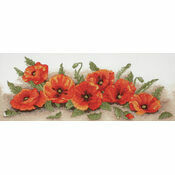 Spray Of Poppies Cross Stitch Kit