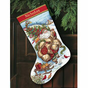 Santa\'s Journey Stocking Cross Stitch Kit